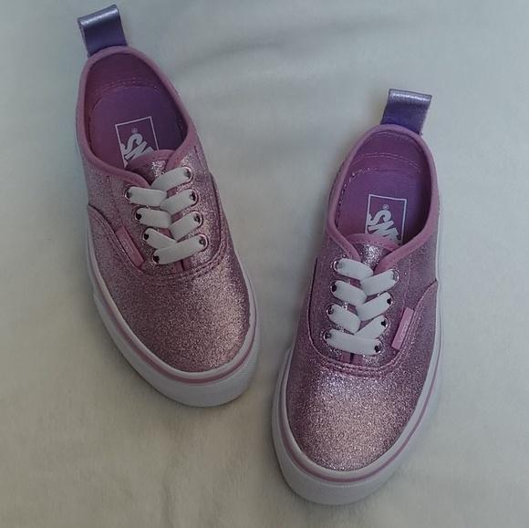 eb4134baf8 Kids Vans Authentic Elastic Glitter Metallic Lilac
